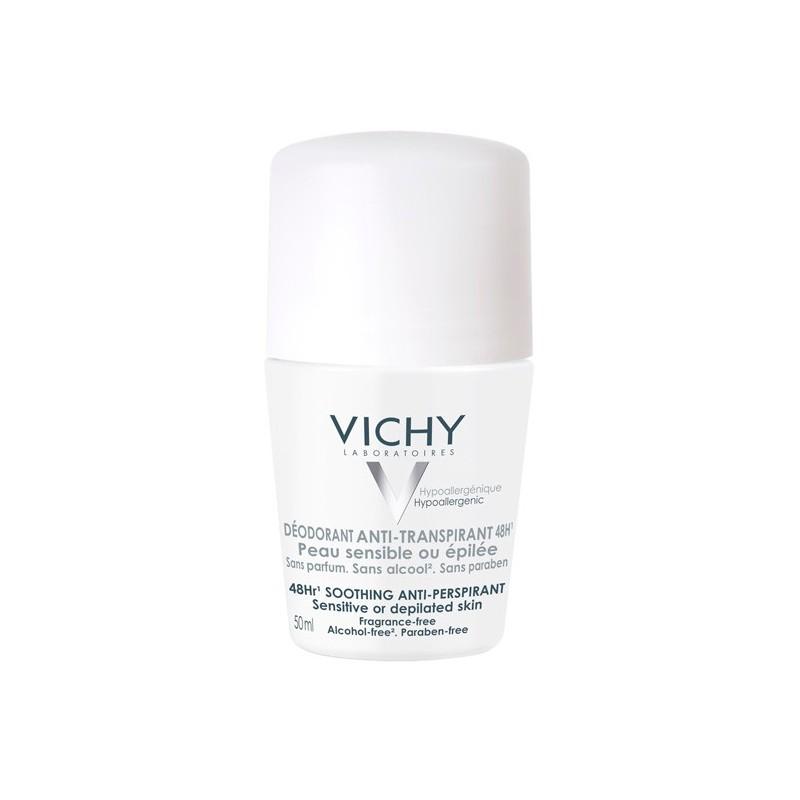 VICHY Desodorante Anti-Transpirante Roll-On Piel Sensible 50 ml