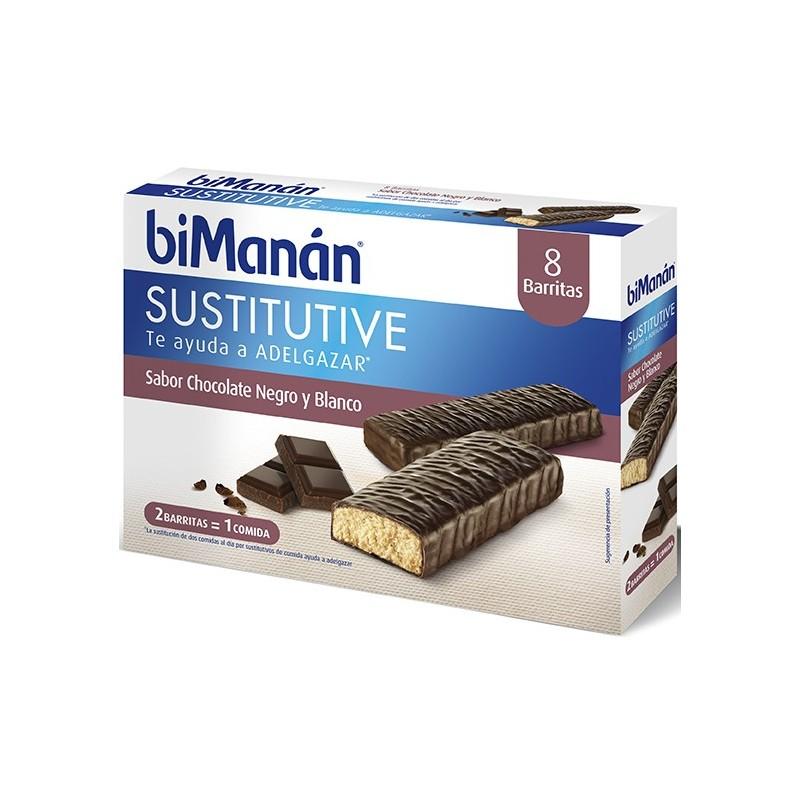BIMANAN BARRITAS CHOCOLATE NEGRO& BLANCO (8 UDS)