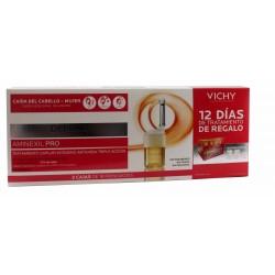 Dercos Aminexil Pro anticaída pack mujer 2 x 18 ampollas + GRATIS 12 días tratamiento