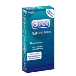 DUREX NATURAL PLUS EXTRALUBRICADO EASY ON 6