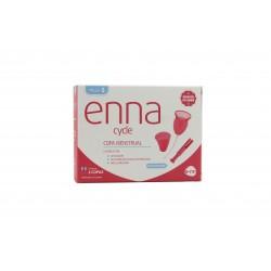Enna 2 copas menstruales + aplicador + esterilizador talla S