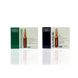 Martiderm Pack Proteoglicanos 30 Ampollas + Alfa Peeling 10 Ampollas.