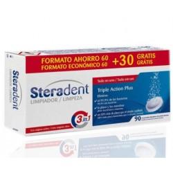 Steradent Triple Acción Plus Limpieza Protesis 90 Comprimidos