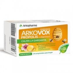 Arkovox Propolis + Vitamina C 24 Pastillas para chupar Menta
