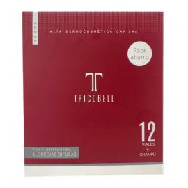 Tricobell Pack Alopecias Difusas 12 Ampollas + Champu 250 ml