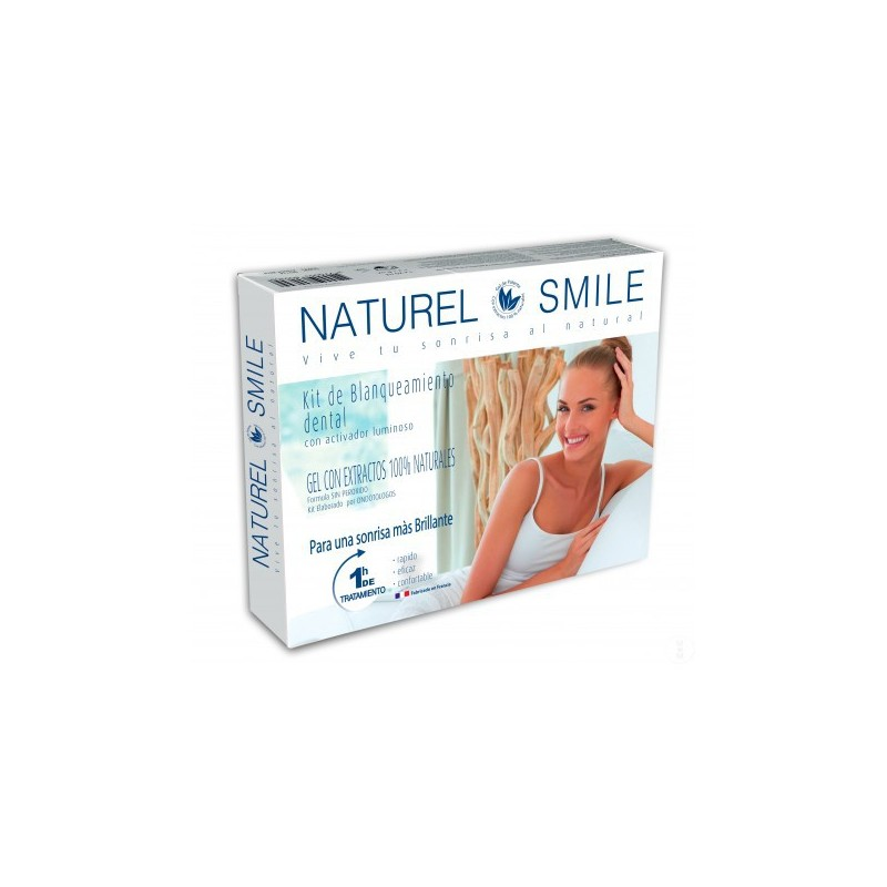 Naturel Smile Kit de Blanqueamiento Dental con Activador Luminoso