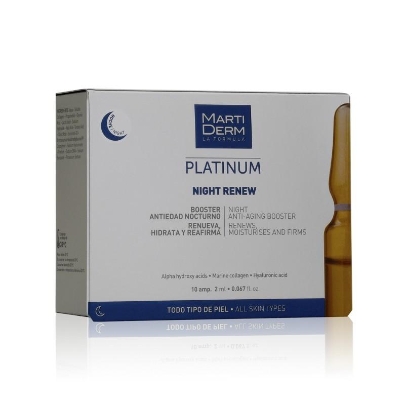 Martiderm Platinum Night Renew 10 ampollas