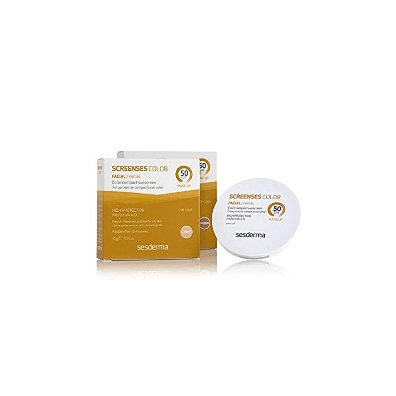 Sesderma Screenses Maquillaje Fotoprotector Compacto Color Light SPF50 10g