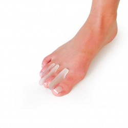 Separador de dedos extrafino. semilunar. M. Silicona (3 uds.)