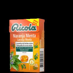 Ricola Caja Caramelos S/Azucar Naranja-Menta 50 g