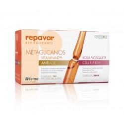 Repavar Revitalizante Metaglicanos Antiedad +  Cell Renew 15+15 Ampollas.