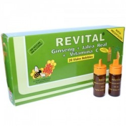 Revital Ginseng + Jalea Real + Vitamina C 20 Ampollas Bebibles