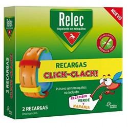 Relec 2 Recargas Pulsera Antimosquitos Infantil