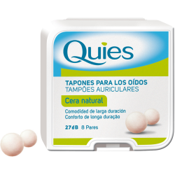 Quies Tapones de Cera 8 Pares