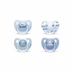 Suavinex Chupete Tetina Anatomica Latex 6-18 Meses Azul 2 Unidades