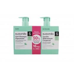 Suavinex Pack Locion Hidratante 500ml + Gel Champu Espumoso 500ml