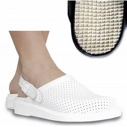 Hankshoes Zuecos Micromasaje 39 Blanco
