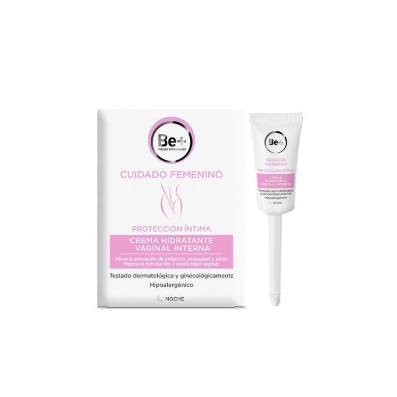 Be+ Crema Hidratante Vaginal Interna 8 Canulas Monodosis