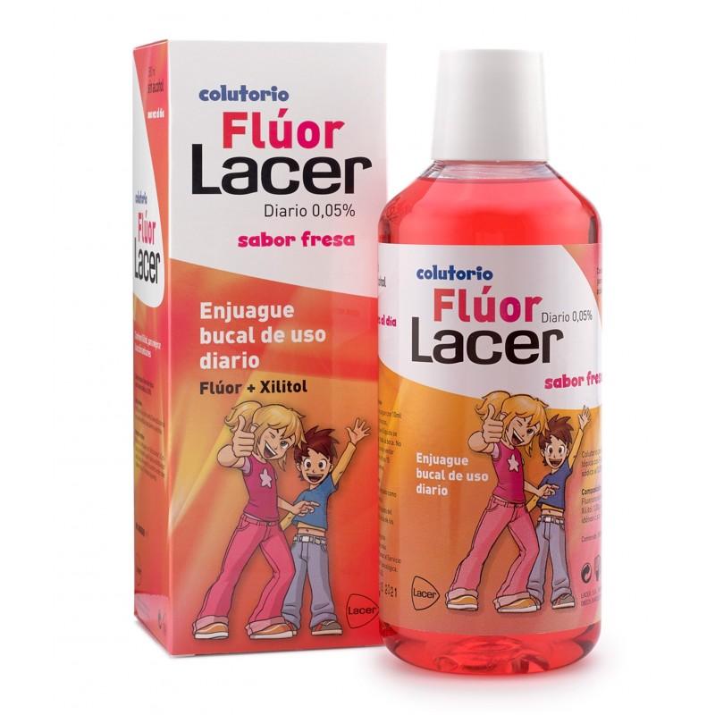 LACER FLÚOR DIARIO 0,05% FRESA 500 ml