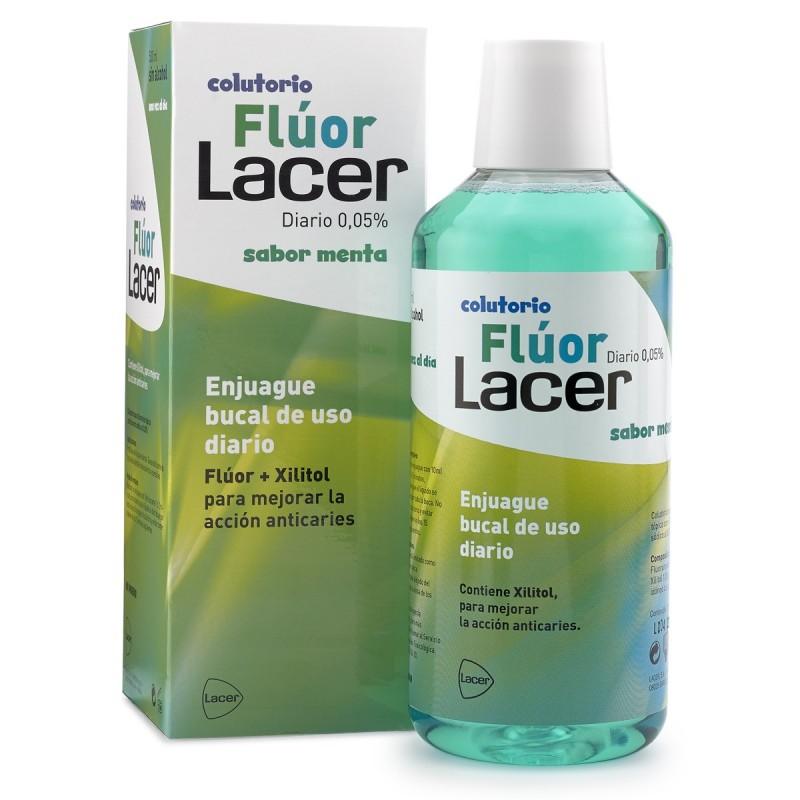 LACER FLÚOR DIARIO 0,05% MENTA 500 ml
