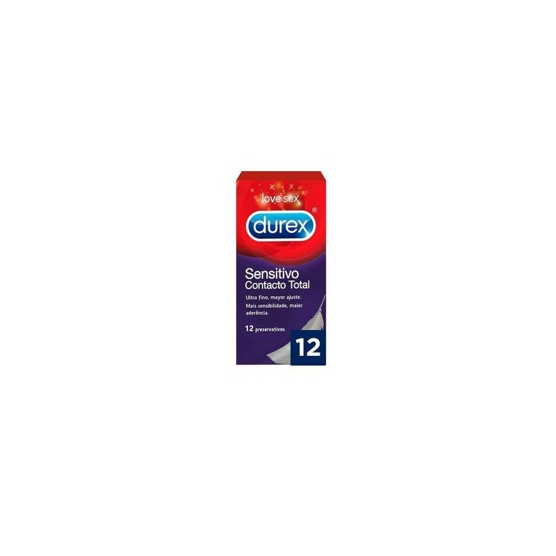 DUREX SENSITIVO CONTACTO TOTAL 12