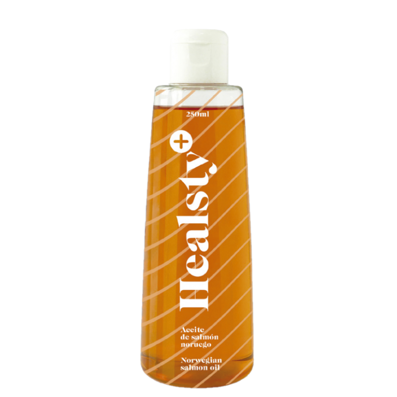 Healsty Aceite de Salmon Noruego para Perro 225 ml + Regalo Aceite Oliva 100 ml