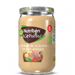 Nutriben Potito Eco Verduras de la Huerta con Pavo Ecológico 235GR