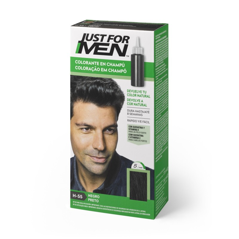 CHAMPU JUST FOR MEN NEGRO