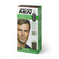CHAMPU JUST FOR MEN CASTAÑO OSCURO