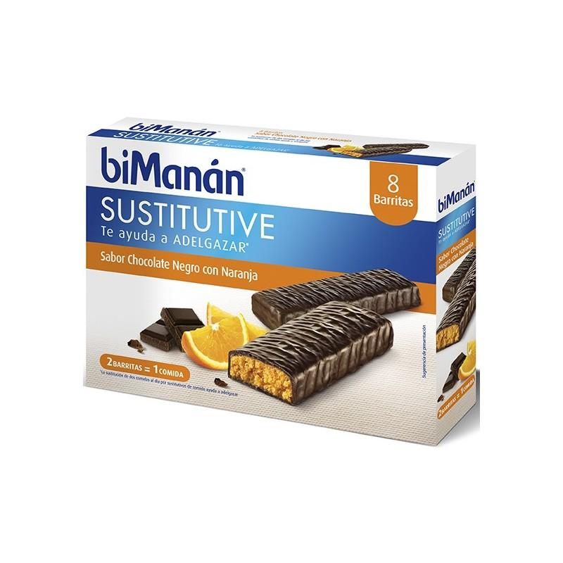 BIMANAN BARRITAS CHOCOLATE- NARANJA ( 8 UDS)