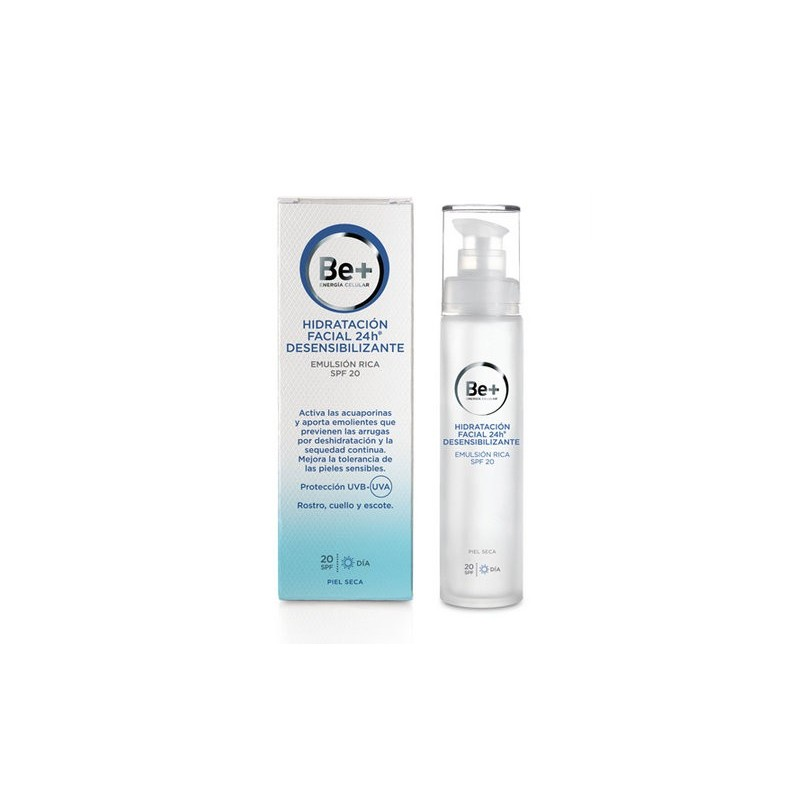 Be+ 24h Emulsion facial piel seca desensibilizante SPF 20 50 ml