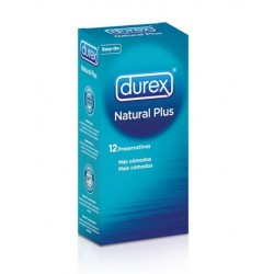 DUREX NATURAL PLUS EXTRALUBRICADO EASY ON 12