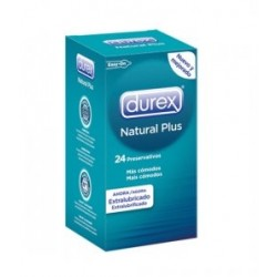 DUREX NATURAL PLUS EXTRALUBRICADO EASY ON 24