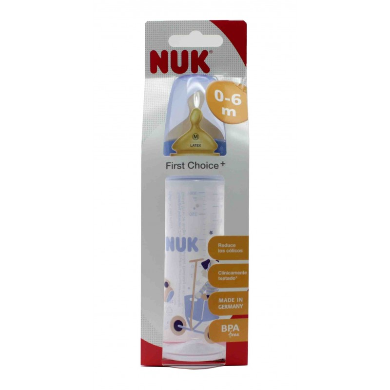 NUK FIRST CHOICE BIBERON PC LATEX 300 CC LECHE T-1 M