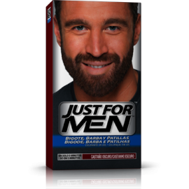 Just For Men Bigote y Barba Castaño Oscuro 30 ml