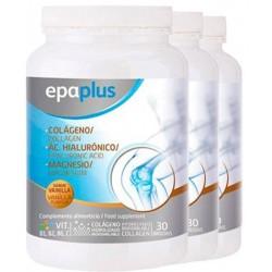Pack 3 Unidades Epaplus Colágeno + Hialurónico + Magnesio Vainilla 332G