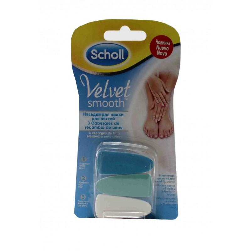 Scholl recambios lima uñas Velvet