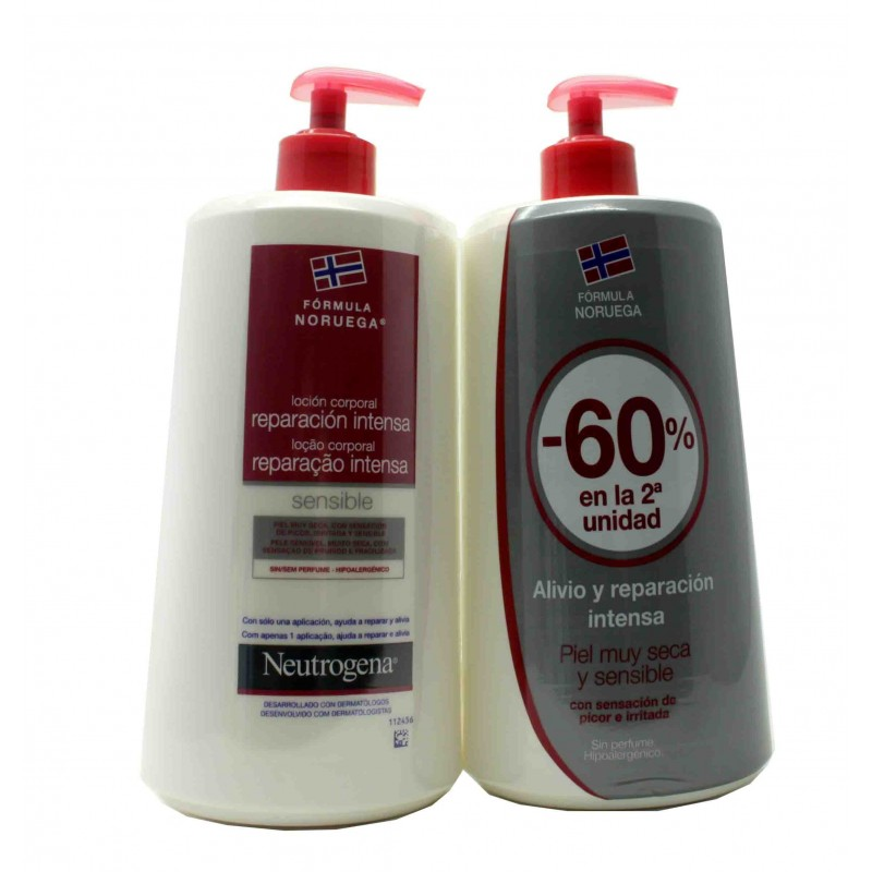 Neutrógena Loción corporal hidratación profunda sensible duplo 2x750 ml