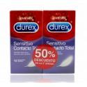 Durex duplo preservativos sensitivo contacto total 12x2 unidades