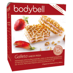Bodybell Galletas Fresa Caja  5 Uds 2º Fase