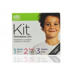 Otc Antipiojos Kit 123 Permetrina (Loción +Acondicionador+Spray)