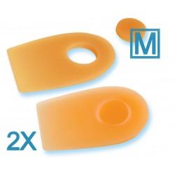Talonera silicona para espolón con orificio (par). M