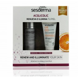 Sesderma Pack  Ac-Glicolic Gel  50 ml + C-Vit Crema Correctora Con Color 30 ml