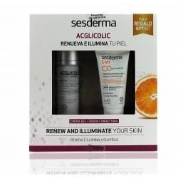 Sesderma pack  ac-glicolic gel  50 ml + C-vit crema correctora con color 30 ml