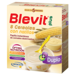 Blevit plus duplo 8 cereales  + natillas  600 gr