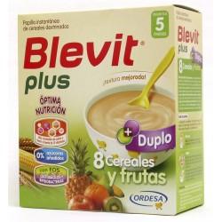 Blevit Plus Duplo 8 Cereales y Fruta 600 gr