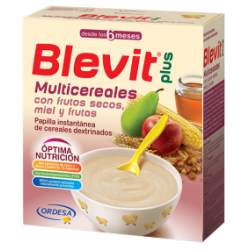 Blevit plus multicereales frutos secos y miel 600 gr