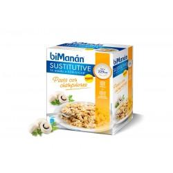 Bimanan Sustitutive Pasta Con Champiñones 3 Sobres 62 g