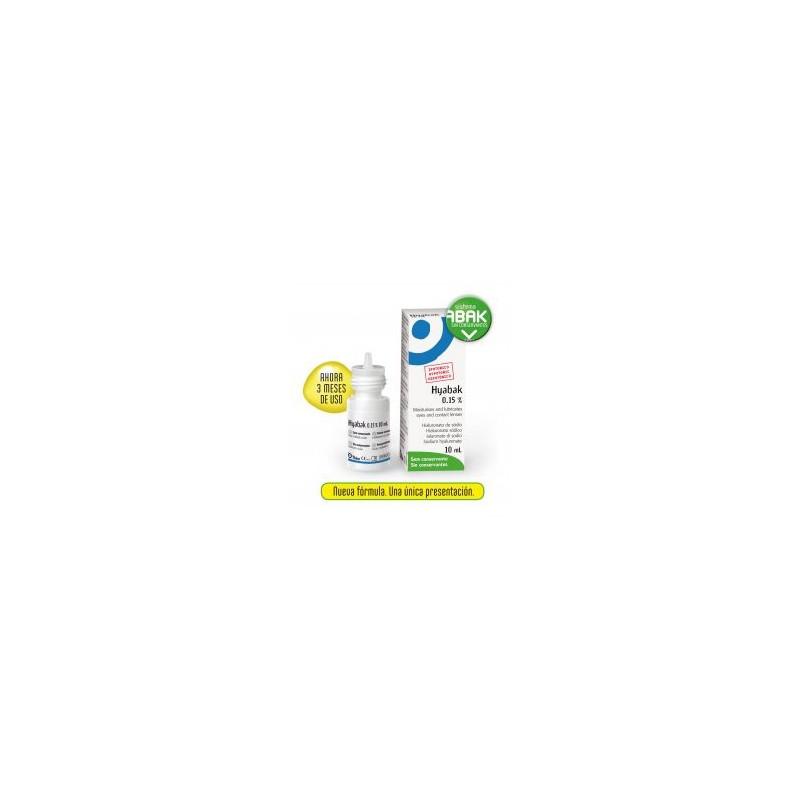 HYABAK LUBRIFICANTE OCULAR 0.15% SOLUCION 10 ML