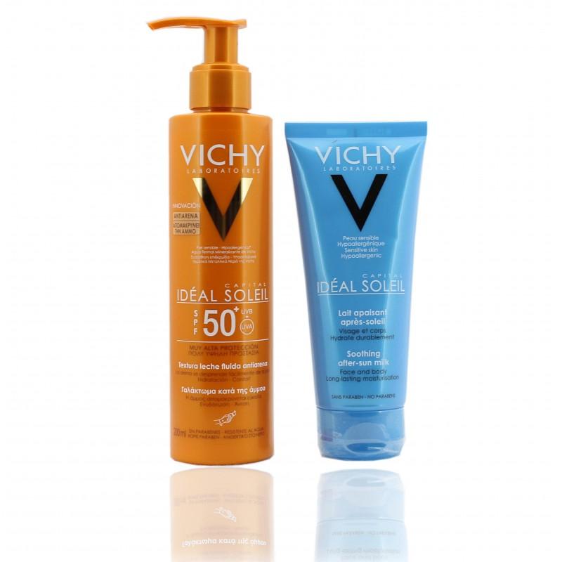 Vichy leche fluida antiarena 200 ml + gratis aftersun 100 ml
